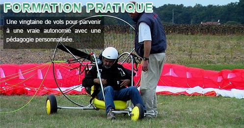 touraine paramoteur formation pratique